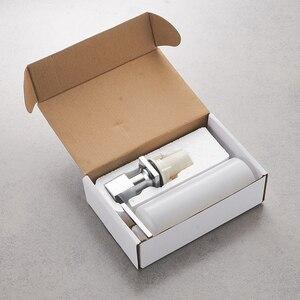 Image 5 - Диспенсер для кухонного мыла, квадратный дозатор для мыла, хромированный дозатор для кухни, встроенный диспенсер 2306