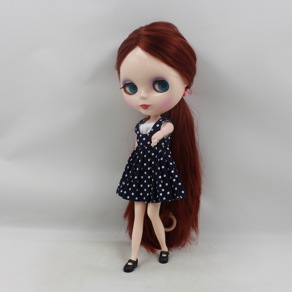 Free shipping blyth doll icy licca 300BL9388 without bangs fringes Bown deep red hair 1 6