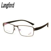2f2cde28a9 Langford marca marcos ópticos hombres grandes gafas marco prescripción marco  completo aleación tr90 progresiva altura 36mm2214