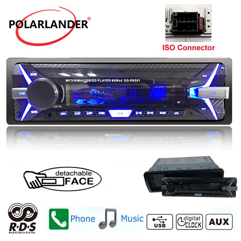 12V Car Stereo In-Dash FM Radio MP3 Audio Player Bluetooth 3.0 1.2 inch Screen