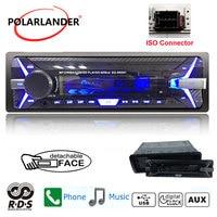 Autoradio Car radio 1 din Bluetooth audio stereo FM USB TF card AUX IN remote control music mp3 player RDS+detachable panel