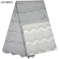 JXFABRIC African White Lace Fabrics New African French Lace Fabric High Quality 2017 For African Women Dresses Tulle Lace Fabric