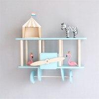 Nordic Wooden Airplane Shelf Medium Airplane Nursery Baby and Child Room Wall Decoration Birth Idea Gift 100% Handmade