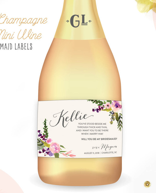 Us 4 98 Customized Flower Wedding Personalized Wine Bottle Labels Personalised Baby Shower Champagne Sticks Custom Beer Tags In Party Diy