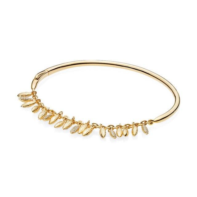 Kristie100 % 925 argent Sterling 567715CZ brillant flottant GRAINS bracelet de luxe exquis charme femmes cadeau bijoux Original 2018