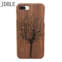 100% Natural Wood Case For iPhone 7 5 5s 6 6s Плюс бамбук Крышка Телефона Для iphone 4s 4g 5c 7 плюс Телефон Гравировки Моделей JS0316