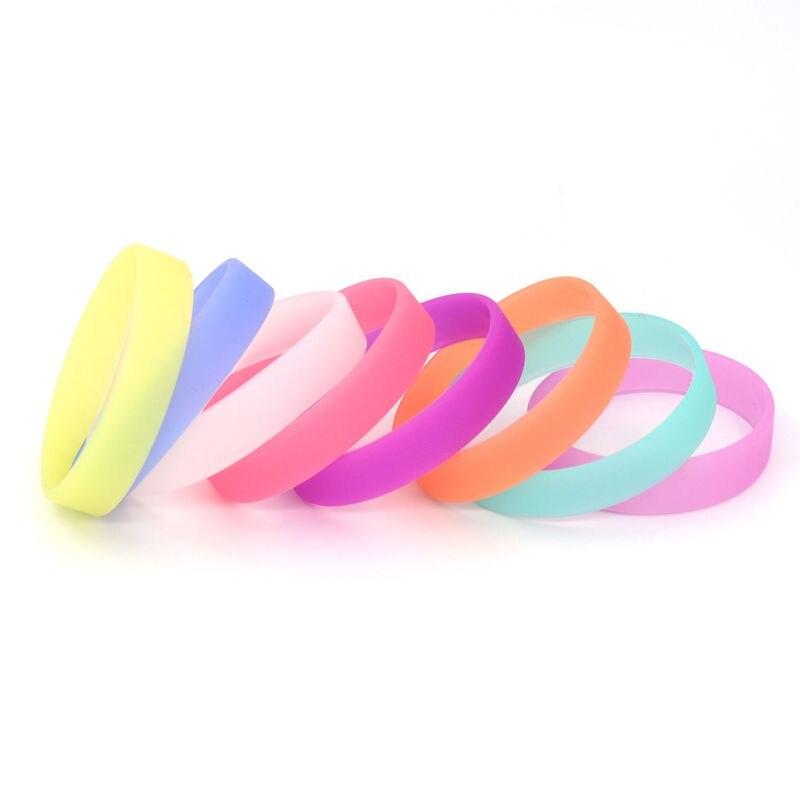 2 Stücke Set Fitness Armband Männer Frauen Kinder Gummi Silikon Armband Für Mann Geschenk Schmuck Glow In Die Dark Großhandel