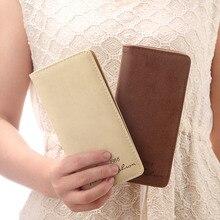 Women Long Purse PU Leather Card Holder Coin Pouch Letters Billfold Casual Wallet -OPK цены