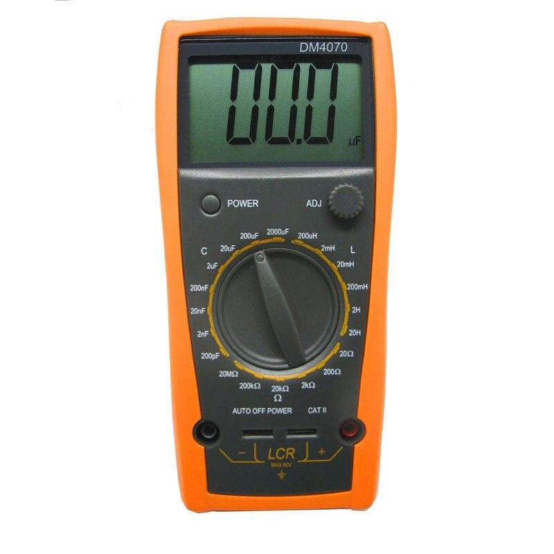Digital multimeter M013 LCR Meter DM4070 3 1/2 20H 2000uF 20Mohm self-discharge inductance R C  цены
