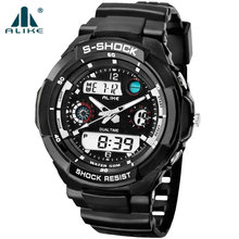 2016 New alike s shock Luxury Brand Men Military Sports Watches Digital LED G Quartz Wristwatches rubber strap relogio masculino