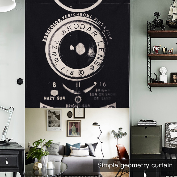 Nordic Camera Guitar Bicycle Short Kitchen Curtain Black White Modern Linen Curtains For Cafe Bar Bedroom Retro Home Decor Quote Curtains Aliexpress