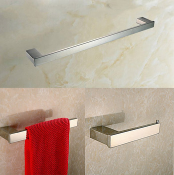 Stainless steel bathroom accessories set 3 Piece-Single Towel Bar and Towel Ring and Tissue Holder Polished Finished