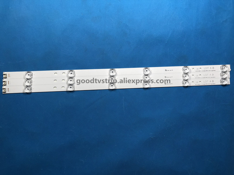3pcs LED Strip for LG 32'' 59cm 32LB550U LV320DUE 32LF5800 32LB5610 32LB550B 32LB580 32LB5600-UZ Innotek DRT 3.0 TV