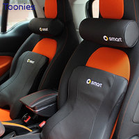 Smart Fortwo Forfour Car Pillows Head Pillow Faux Leather Breathable Neck Cushions Pillow Memory Cotton Lumbar