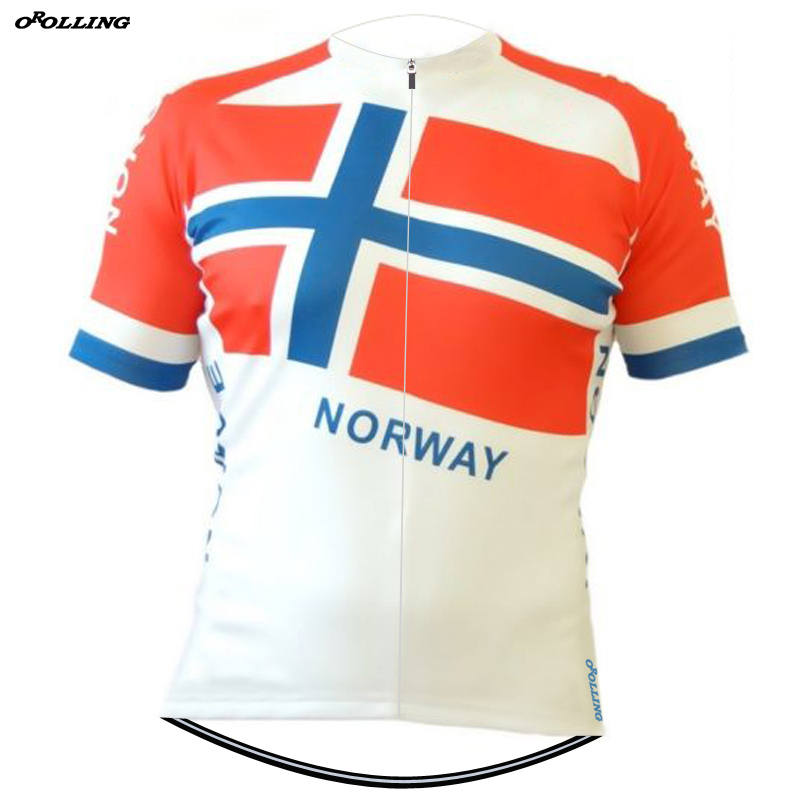 New Retro NORWAY Pro Team Cycling Jersey Customized Road Mountain Race Top  Classical OROLLING 4a5d3c11f