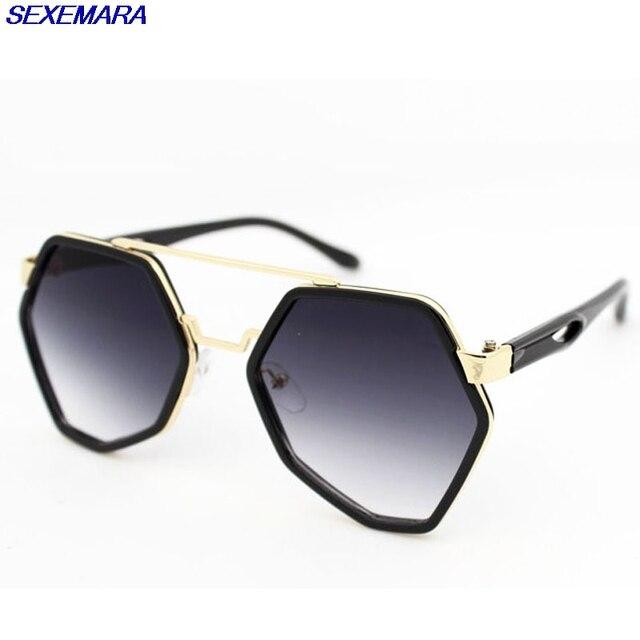 Sexemara mujeres gafas de sol cuadradas gafas de marco grande de la ...