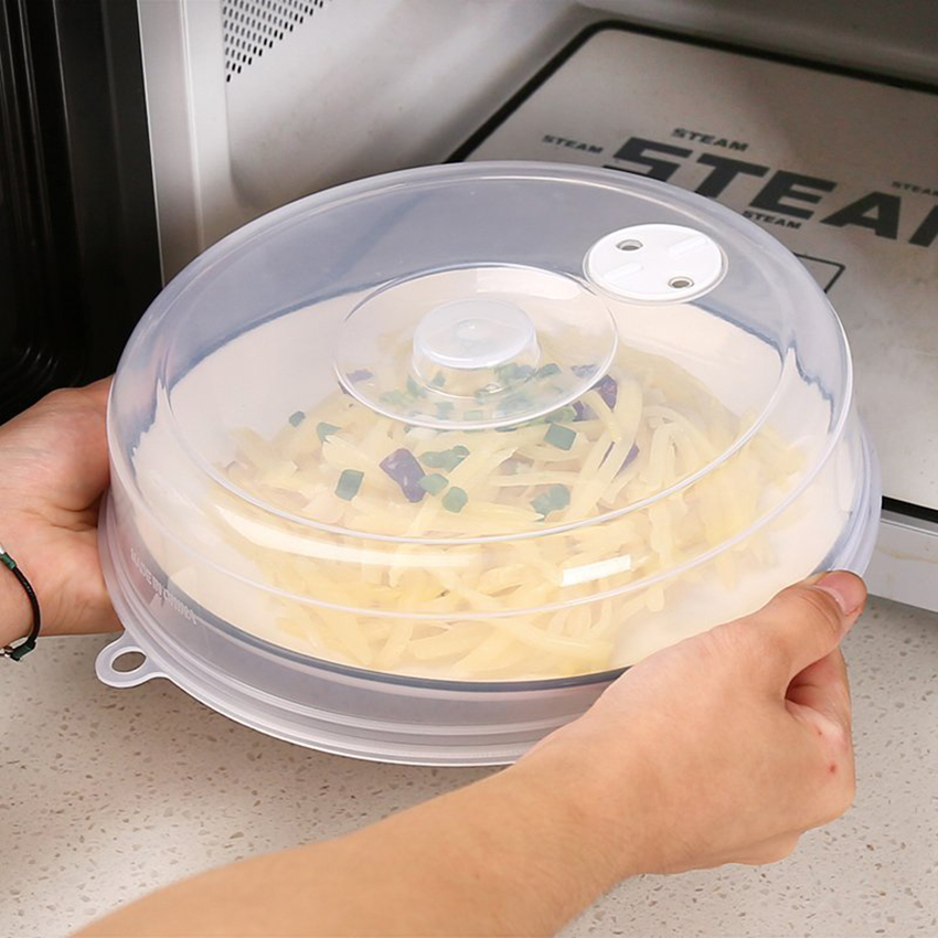Microwave Oven Refrigerator Covers PP Transparent Food Fresh Keeping Heated Sealed Lid Oil Proof Anti-Sputtering Cap Protector