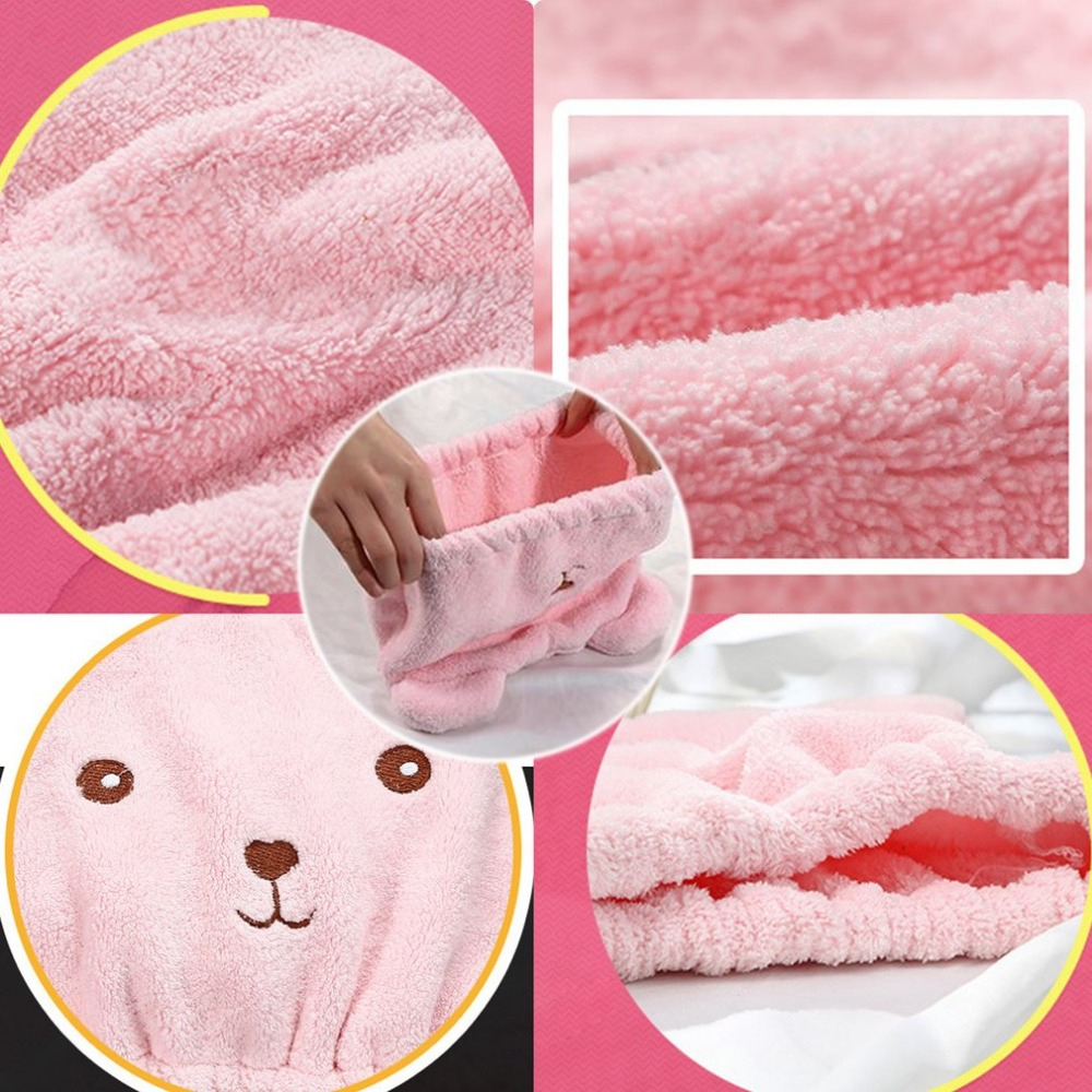 e8c5c5f9673 Shower Caps Lovely Animal Cartoon Bath Hair Dry Hat Shower Cap Strong  Absorbing Quick Dry Head Towel Cap Hat For Bathing Showing