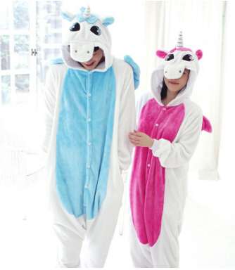 Adult Fleece Animal Sleepsuit Pajamas Costume Cosplay Unicorn Onesie Pink Blue Pyjamas Jumpsuits Rompers Animal Pyjamas Unicorn