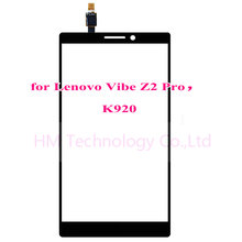6.0″ Black TP for Lenovo Vibe Z2 Pro K920 Touch Screen Digitizer Front Glass Panel Sensor No LCD Replacement Free Shipping+Tools