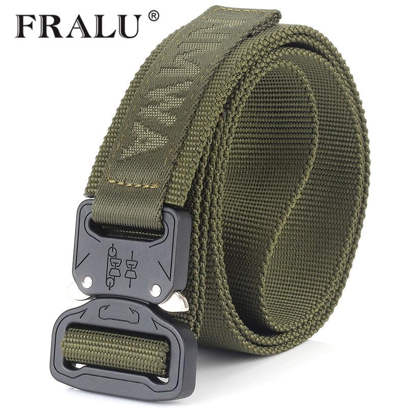 FRALU Camouflage Military Equipment Tactical Belt Men SWAT Combat Knock Off Army Belt Nylon Heavy Duty Paintball Waist Belt