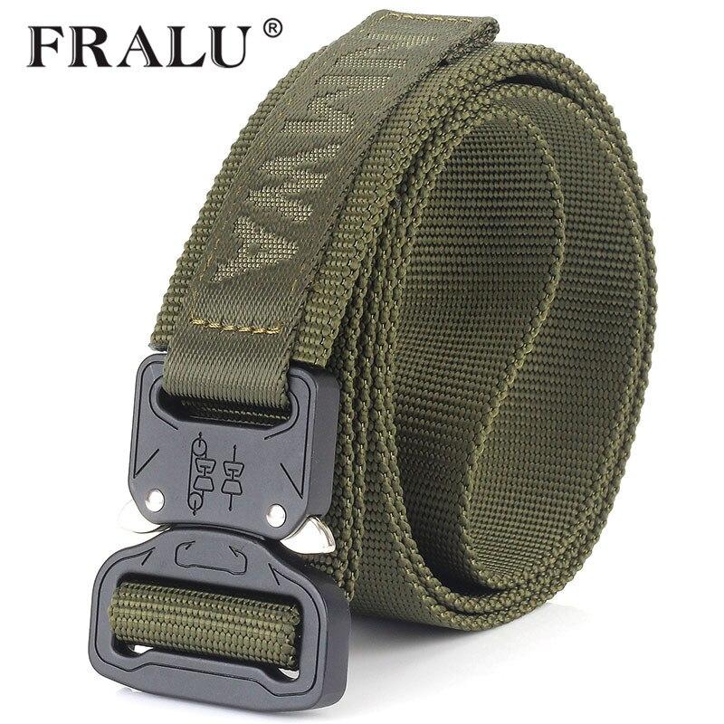 FRALU camuflaje equipo militar cinturón táctico hombres SWAT combate Knock Off cinturón ejército Nylon Heavy Duty Paintball cinturón