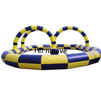 Inflatable race track, Inflatable go kart track, inflatable sport games for bike,kids toy outdoor cars race track for sale