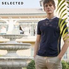 Sélectionné Slade coton à la mode homme Poloshirt rayure Baseball col manches courtes T shirt S