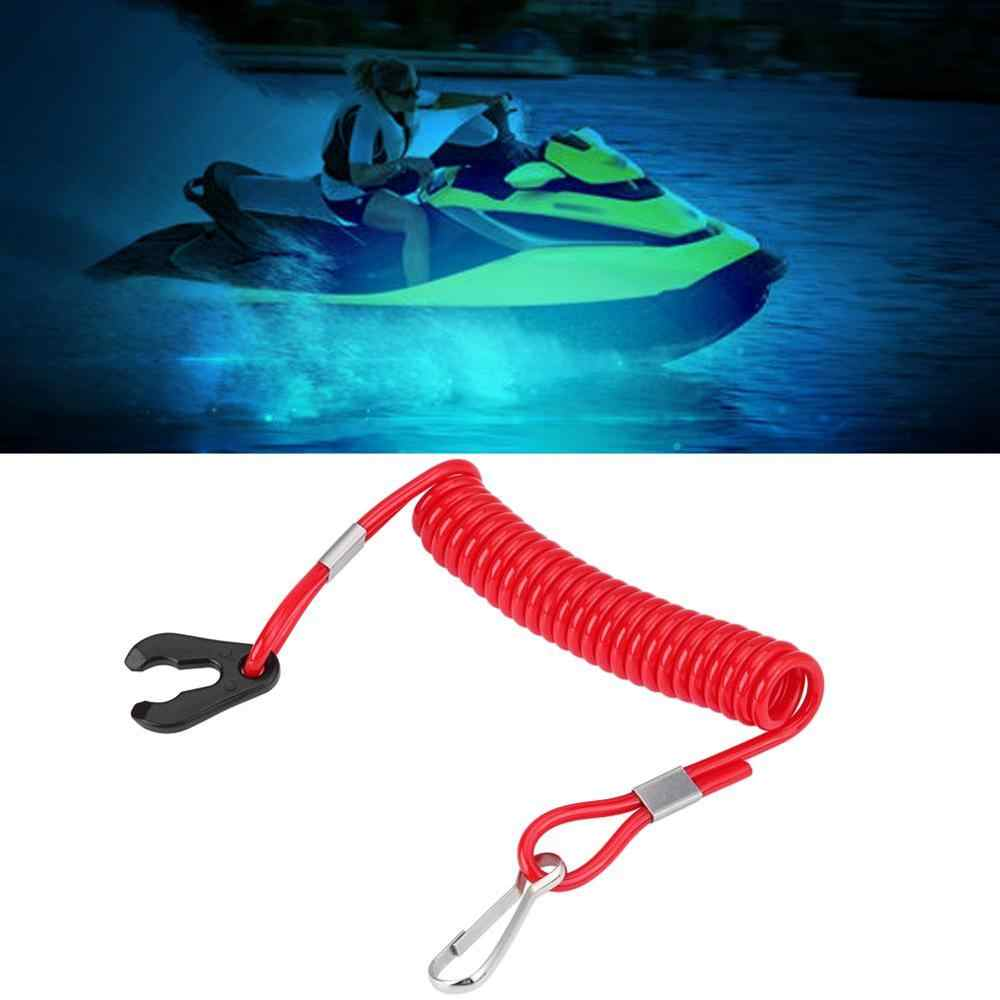 Boat Outboard Engine Ignition Emergency Kill Stop Switch Key Lanyard Rope Clip Hook New Red Color for Yamaha All Series