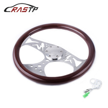 15inch 380mm Wooden Grain Steering Wheel Classic Sport Style Solid Wood Quality RS-STW015-C