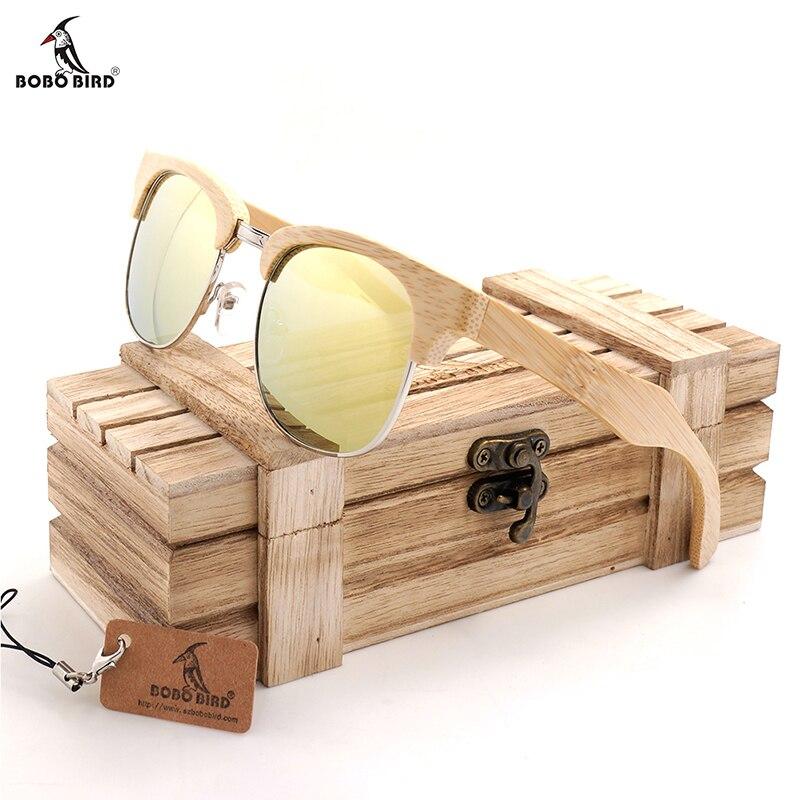 BOBO BIRD BG016f Unisex Polarized Sunglasses Semi Enclosure Design Handmade Bmaboo Glasses oculos de sol masculino