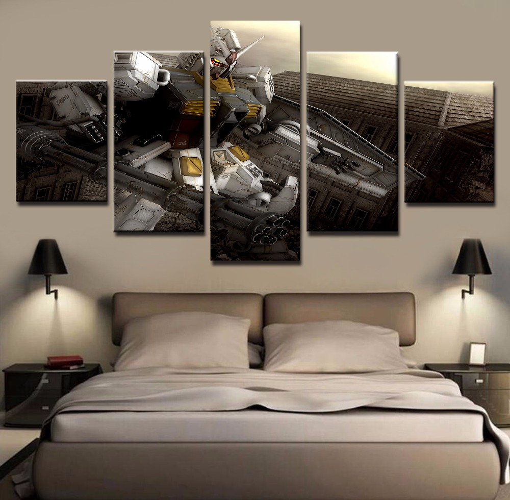 Art Decor Ideas Living Rooms: Wall Art Painting Pictures Canvas Printed Anime Modular