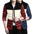 Hombres chaqueta de invierno 2016 abajo chaqueta parka de invierno de Los Hombres modelos gruesa abajo chaqueta de cuello Delgado de la versión Coreana de los hombres ocasionales chaqueta