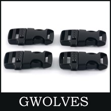 2019 new side release whistle plastic buckles for paracord bracelet 10piece 50mm dia plastic quick side release buckle for paracord bracelet