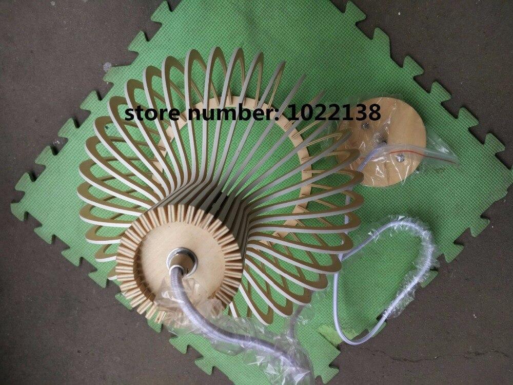 Moderne Zwarte Hout Birdcage E27 lamp hanglamp norbic home deco bamboe weven houten Hanger lamp - 5