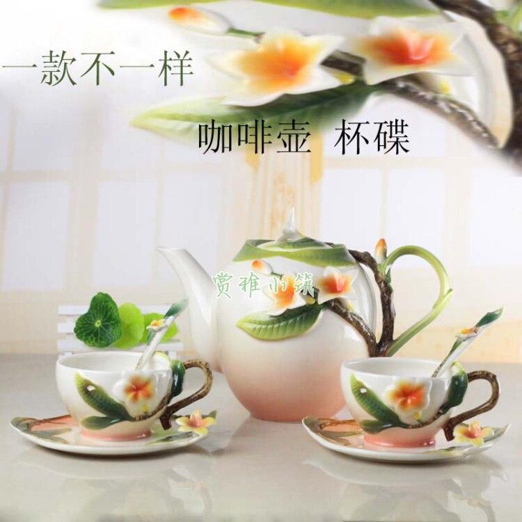 Ev ve Bahçe'ten Çay Takımı Setleri'de Seramik Kahve çay seti, bir pot ve iki bardak'da  Grup 1
