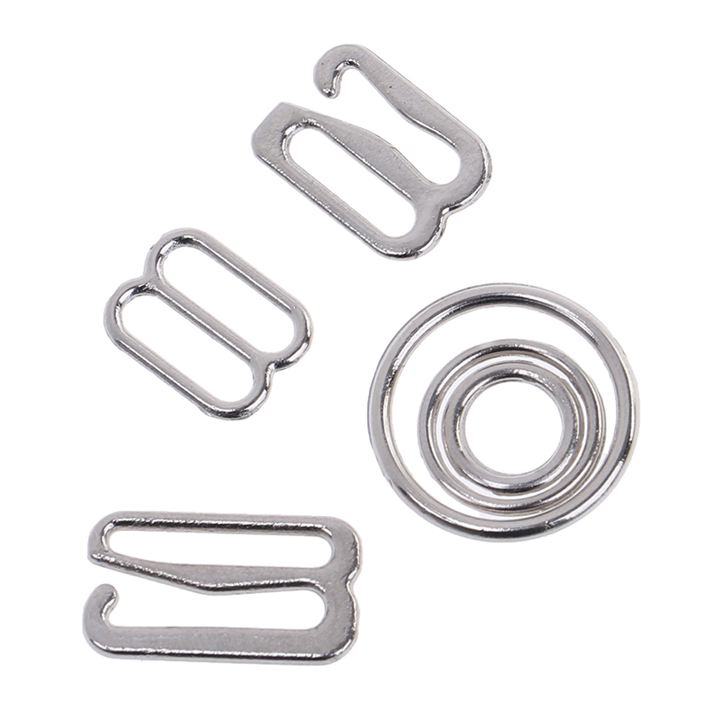 100pcs/Lot 6/10/<font><b>15mm</b></font> Metal Bra Strap Adjustment <font><b>Buckles</b></font> Underwear Sliders Rings Clips For Lingerie Adjustment DIY Accessories image