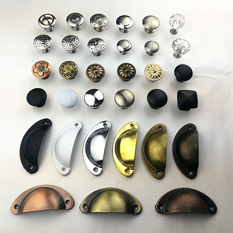 Knobs Hardware-Handle Wardrobe Furniture Drawer Cabinet Door Stainless-Steel Color Variety-Style