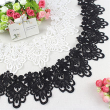 Water soluble hollow black lace accessories clothing DIY decorative hem skirt sewing cloth fabric