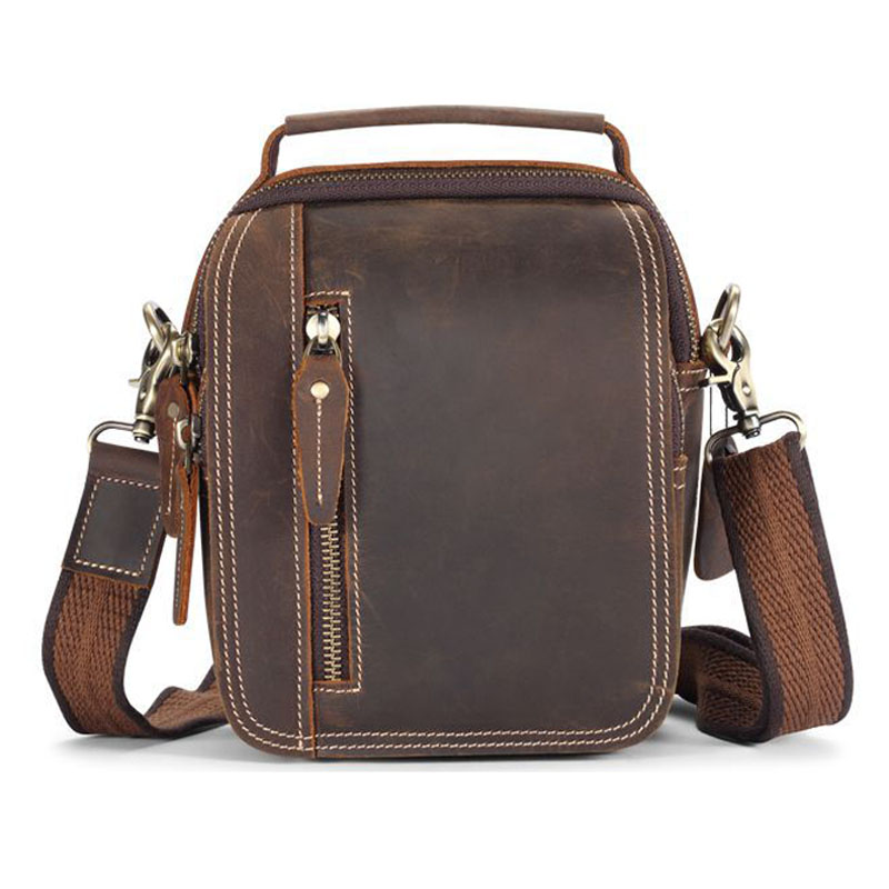 Contact s genuine leather waist bag men waist pack Multifunction fanny pack men belt bag bum