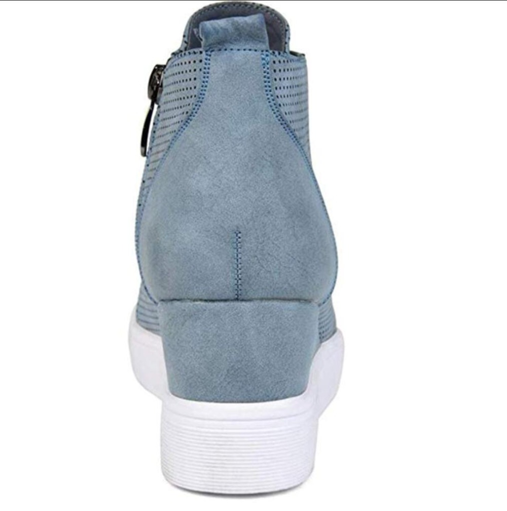 668ce03d3eb Women Boots Plus Size 34 43 Fashion Round Toe Ankle Boots Zip Lady Winter  Boot Woman Shoes Black Brown blue sneakers women n229-in Ankle Boots from  Shoes on ...