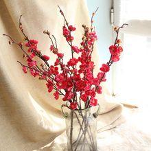 Artificial Flowers Cherry Blossom Bridal Decor Bouquet Silk Fake Decoration Wedding Decorative DIY