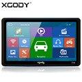 XGODY 718 7 polegada Caminhão Do Carro de Navegação GPS 128 MB de RAM + 8 GB ROM FM Navegador com Sombrinha 2015 Europa América mapas
