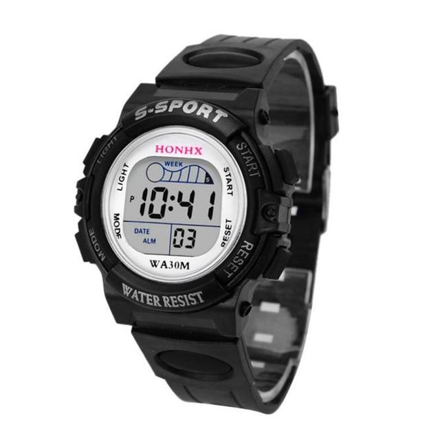 2018 Impermeabile Bambini Ragazzi Digital LED Orologio Sportivo Per Bambini Allarme Data Regalo relogio feminino masculino relojes D0323 Uhren