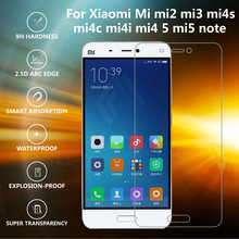 цены на Original  Premium 0.26mm 9H Tempered Glass For Xiaomi Mi mi2 mi3 mi4 mi4c mi5 redmi 2 3 redminote 2 3 Screen Protector Film  в интернет-магазинах