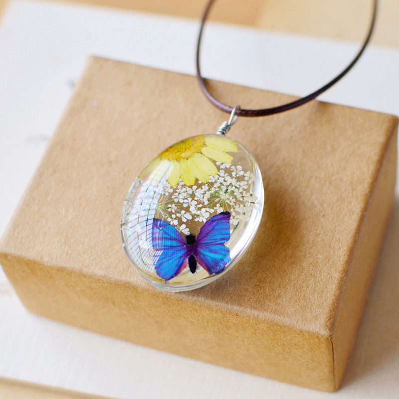 etsy - yellow butterfly meaning - dried flower necklace - Natural Dried Flower Butterfly Necklace - diamond- minecraft-New-Design-Fashion-Natural-Dried-Flower-Butterfly-Necklaces-Pendants-Long-Necklace-Jewelry-for-Women-etsy