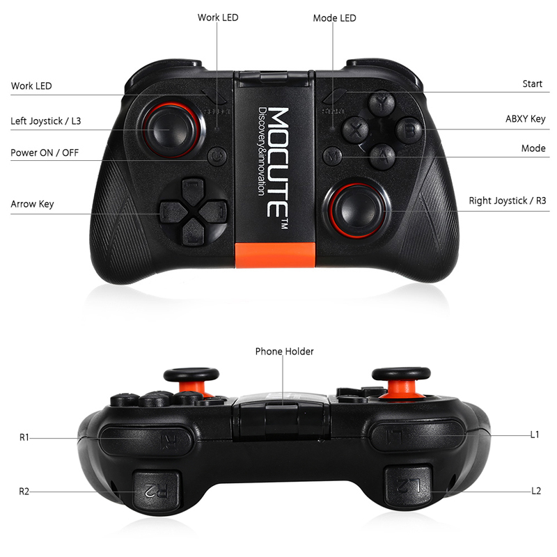 Bluetooth Gamepad 050 Wireless Game Controller Joystick For Android ISO Smartphones Windows TV Box Tablet PC VR Glasses 5