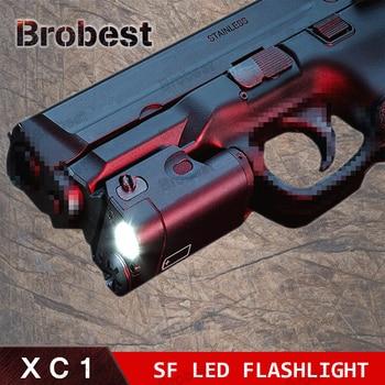 Tactical XC1 Pistol Light Mini LED Flashlight Military Ultra Compact Weapon Light Shockproof Hunting Lanterna For Glock 17 18C