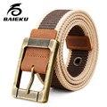 Baieku Холст пояса Хан издание молодых мужчин пояса досуг студенты джокер пояса холст пояса
