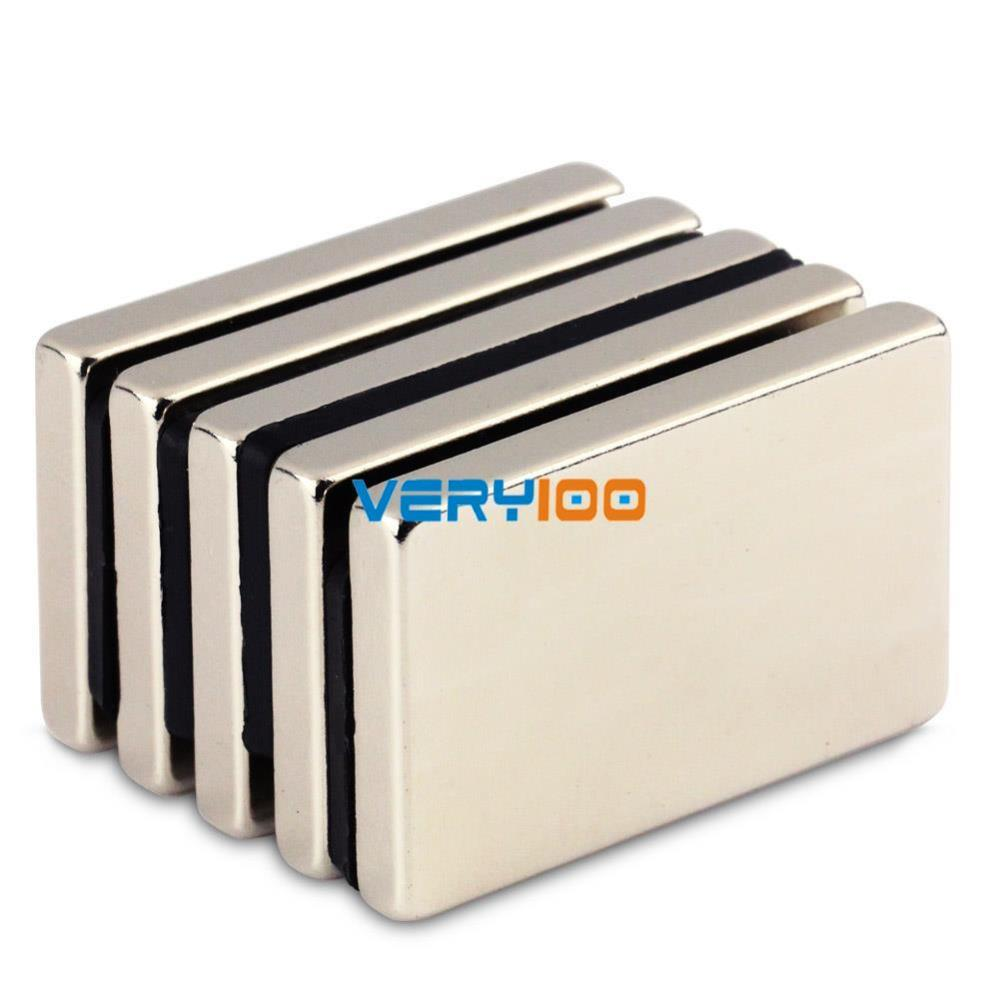 1pc N50 Super Strong Block Cuboid Neodymium Magnets 40 x 25 x5mm Rare Earth Free Shipping!